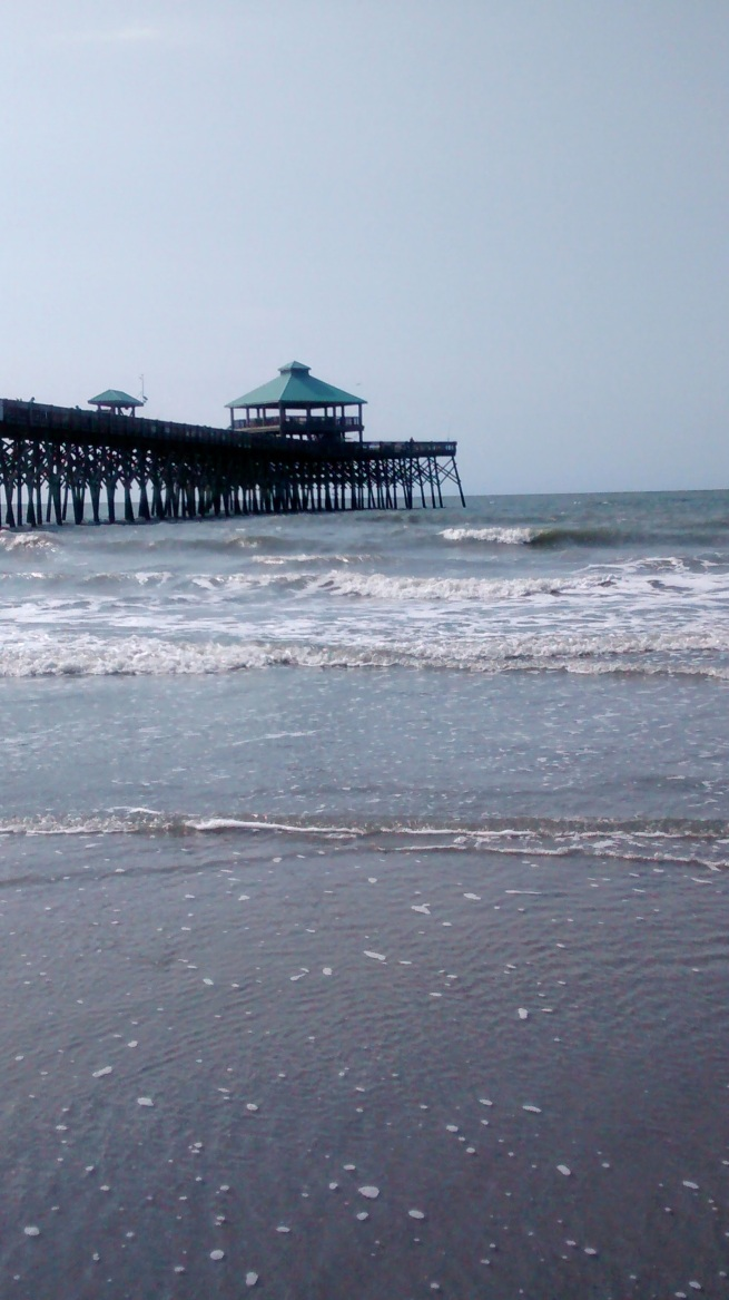Photo: Folly Beach, my dad's favorite beach to come and think.