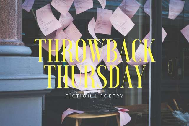#ThrowbackThursday Poetry: With Those Bulging Eyes